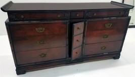 19529 Antique Mahogany large Chest with Mirror - $785.00