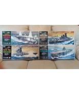 4 Hasegawa 1/450 IJN Warships Yamato , Musashi , Akagi , and Shinano Mot... - $375.25