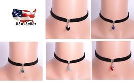 Women Heart Shape Pendant Velvet Choker Necklace Collar Neck Decoration - $6.59