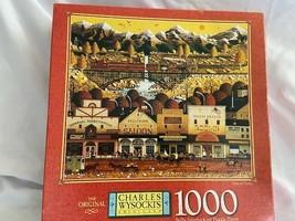 Charles Wysocki 1000 Piece Jigsaw Puzzle Game Train to Town Rompecabezas... - $24.50