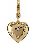 Juicy Couture Charm Star Crystal Puff Heart Gold Tone - $57.42