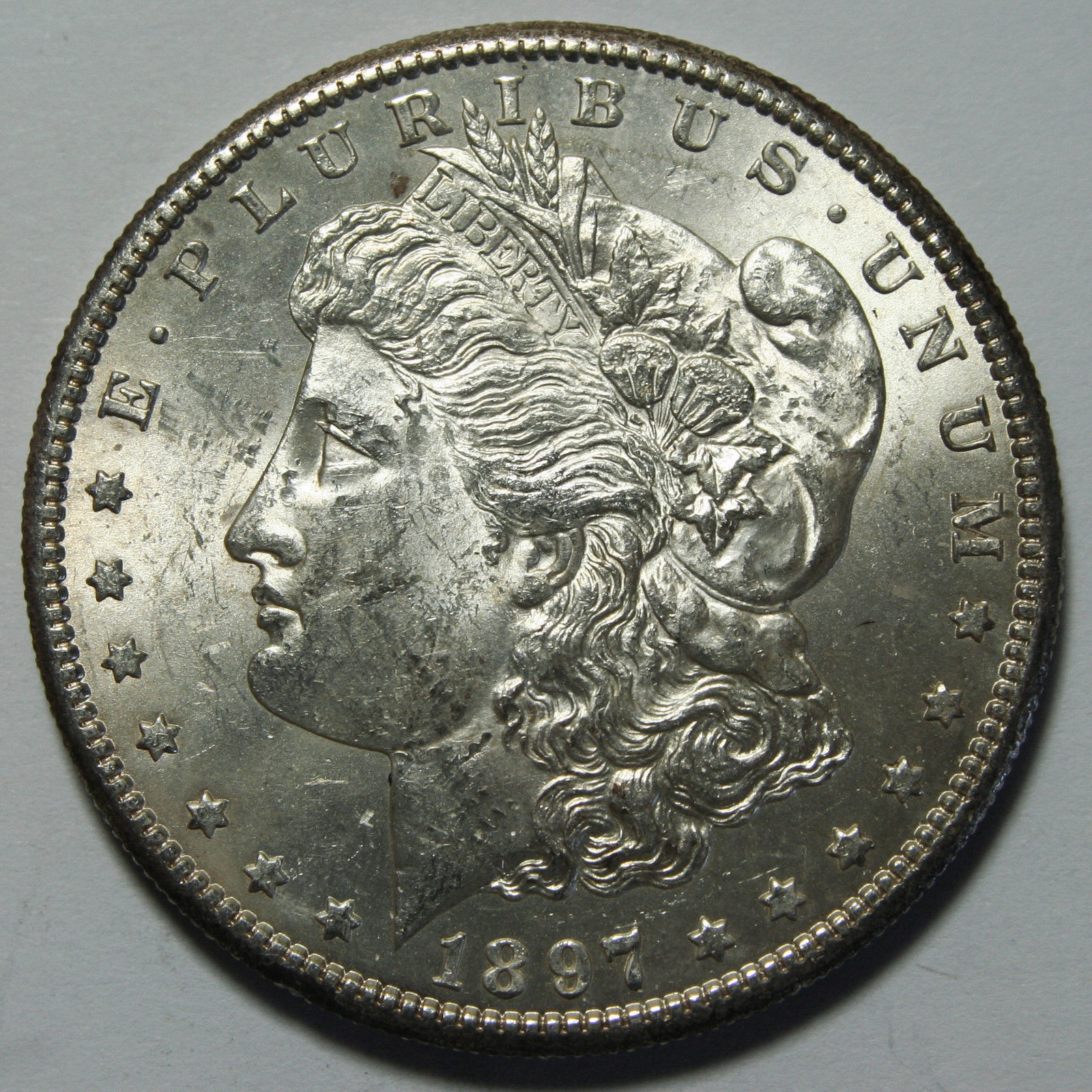1897S MORGAN SILVER DOLLAR COIN Lot# A 2100