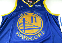 KLAY THOMPSON / AUTOGRAPHED GOLDEN STATE WARRIORS PRO STYLE BLUE JERSEY / COA image 2