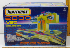 Very Rare 1990 Matchbox 2000 MAG LEV Vertical Service Center w/ Vehicle Unopened - $115.23