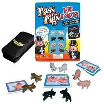 Pass the Pigs Party Edition Family Game Dice Zippered Travel Pig Case - $21.29
