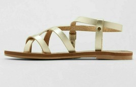 Universal Thread Women's Gold Lavinia Toe Wrap Thong Summer Sandal NEW image 2