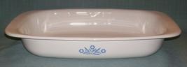 Vintage Corning Ware BLUE CORNFLOWER ROASTER / Bake Pan  P-21 VGUVC - $19.95