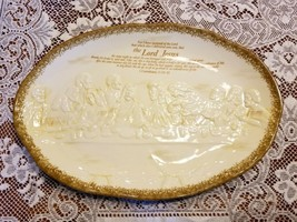 "Last Supper Lord Jesus Oval Serving Platter Ceramic Tray 16"" x 11"" - $49.99"