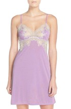 Natori M Enchant Chemise Nightie Nightgown Lilac - White Lace Y78132 $16... - $106.92