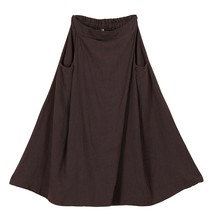 Women A Line Linen Skirt Ankle Length Linen Cotton Casual Skirt,Army Green Navy  image 3