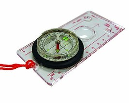 UST Deluxe Map Compass with Raised Base Plate and Swivel Bezel for Hikin... - $11.75