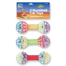 PetKing 3 Cat Dumbbell Cat Toys