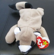 Ty Beanie Baby Ringo Raccoon 1995 4th Generation Hang Tag PVC Filled USED - $5.93