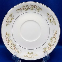 "International Silver Springtime Saucer 5-3/4"" White Yellow Floral Platinum 326 - $10.89"