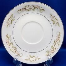 "International Silver Springtime Saucer 5-3/4"" White Yellow Floral Platinum 326 - $10.89"