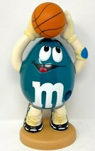 M & M Basketball Blue, Teal, Candy Dispenser, Collectible  - $4.99