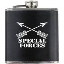 Special Forces Green Beret US Army Veteran Soldier Groomsman Gift Leather Flask - $19.79