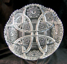 Vintage Cut Crystal Glass Bowl - $34.82