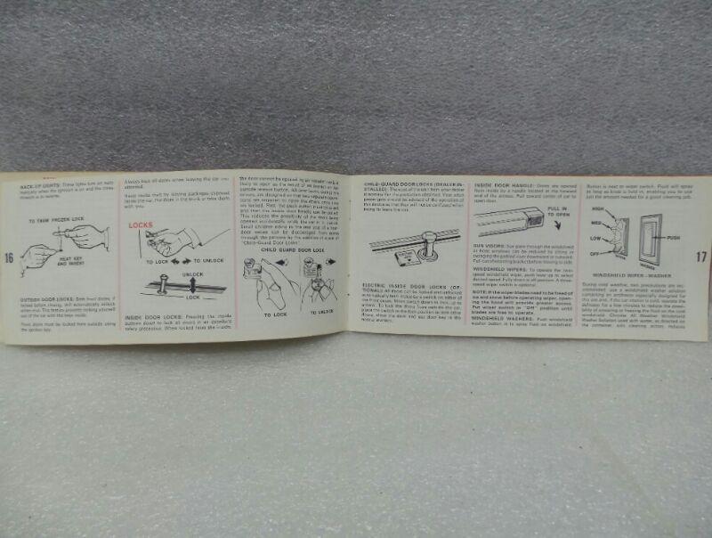 DODGE MONACO & POLARA 1969 Owners Manual 16313