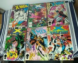 X Men Comic Book Lot Of 6 X Factor Classic X Men The Uncanny X Men Marvel - $24.75