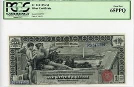 FR. 224 1896 $1 Silver Certificate PCGS Gem New 65 - Silver Certificates... - $4,888.80