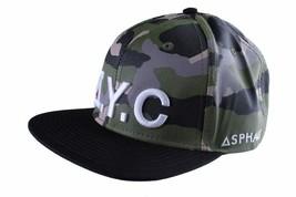 Asphalt Yacht Club Camo Green Black Hunt Snapback Baseball Hat AYC1410920 NWT image 2