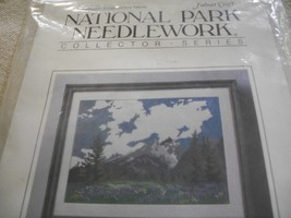 Grand Tetons Cross Stitch Kit: Comes with Floss, Aida, Needle, Directions & Hoop - $30.00