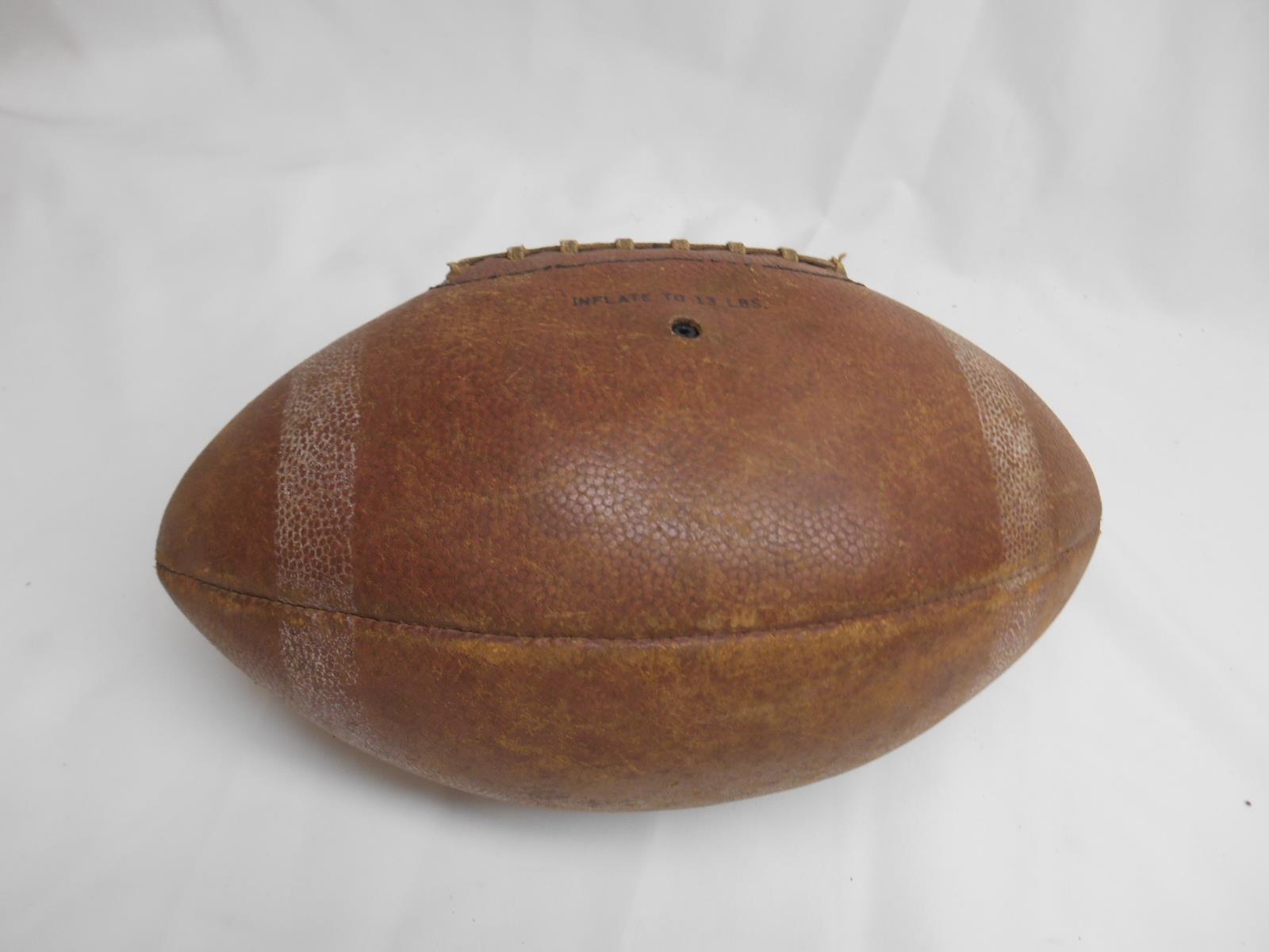 Old Vtg SPALDING FOOTBALL Pigskin Varsity #338 GARY COLLINS AUTOGRAPH Model Ball