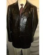 "D23 42L LEATHER BANANA REP BLAZER Sport Coat Jacket mens 26"" arms Brown Cowboy - $149.24"