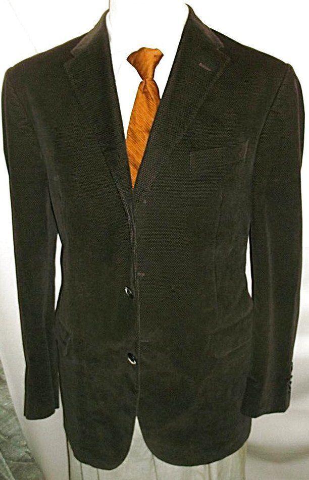 D23 42L ITALY VELVET CORNELIANI BLAZER Sport Coat Jacket mens 26