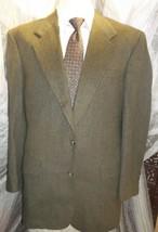 "D23 44 L Camel Hair Blass Blazer Sport Coat Jacket Mens 25.5"" Arms Green Stripe - $111.84"