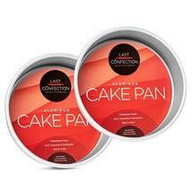 """Last Confection 2-Piece Round Cake Pan Set - 8"""" x 2"""" Deep Aluminum Pans - $15.24"""