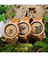 BOBO® Bamboo Wood Watches Men Image Printing New Arrivals Optional Casual - $31.22