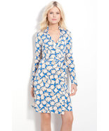 DIANE von FURSTENBERG NEW JEANNE CORAL LEAVES SMALL DRESS - US 10 - UK 14 - $219.99