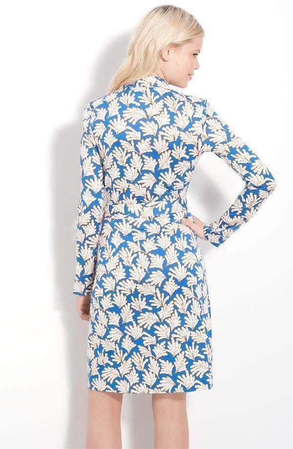 DIANE von FURSTENBERG NEW JEANNE CORAL LEAVES SMALL DRESS - US 10 - UK 14