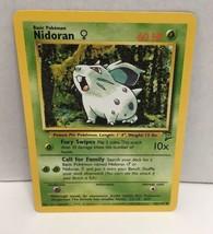 Nidoran 82/130 Pokemon Card TCG Lightly Played Original Base Set 2 NM Gr... - $2.54