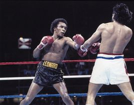Roberto Duran Sugar Ray Leonard 61 11X14 Matted Color Boxing Memorabilia Photo - $14.99