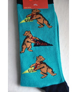 Mens 6-12 Novelty Fun Socks College School Spirit Mascot Teal Go Team Mo... - $12.00