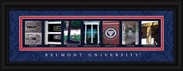 Belmont University Officially Licensed Framed Letter Art - $39.95