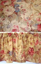 Window Valance w New Ralph Lauren Fabric COASTAL GARDEN FLORAL PINK BEIG... - $34.45