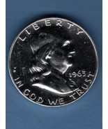 1963 Prf. Half Dollar Silver USCoin Money - $20.00