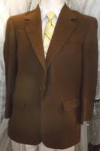 "D23 42 R Camel Hair Blass Blazer Sport Coat Jacket Mens 24"" Arms Chocolate - $37.04"