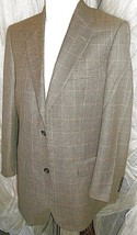 "D23 40L ITALY 120 Wool TASSO BLAZER Sport Coat Jacket mens Macy's check 25.5"" ar - $37.04"