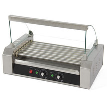 NEW Hot Dog Roller 18 Dogs Grill Cooker W/ Glass Hood Commercial Machine... - $199.95