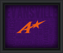 "University of Evansville ""College Logo Plus Word Clouds"" - 15 x 18 Framed Print - $49.95"