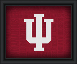 "University of Indiana ""College Logo Plus Word Clouds"" - 15 x 18 Framed Print - $49.95"