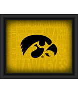 "University of Iowa ""College Logo Plus Word Clouds"" - 15 x 18 Framed Print - $49.95"