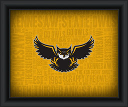 "Kennesaw State University ""College Logo Plus Word Clouds"" - 15 x 18 Framed Print - $49.95"