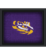 "LSU Tigers ""College Logo Plus Word Clouds"" - 15 x 18 Framed Print - $49.95"