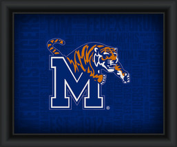 "University of Memphis ""College Logo Plus Word Clouds"" - 15 x 18 Framed P... - $49.95"